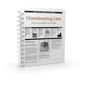 homekeeping lists for the chronically ill and disabled cover