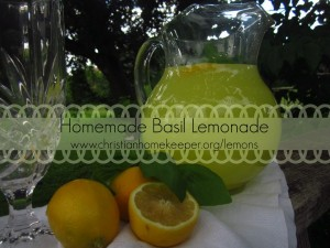 basil lemonade words